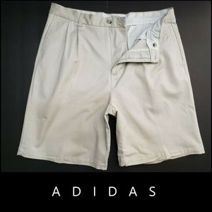 Adidas Men Pleated Front Short Size 36 Beige